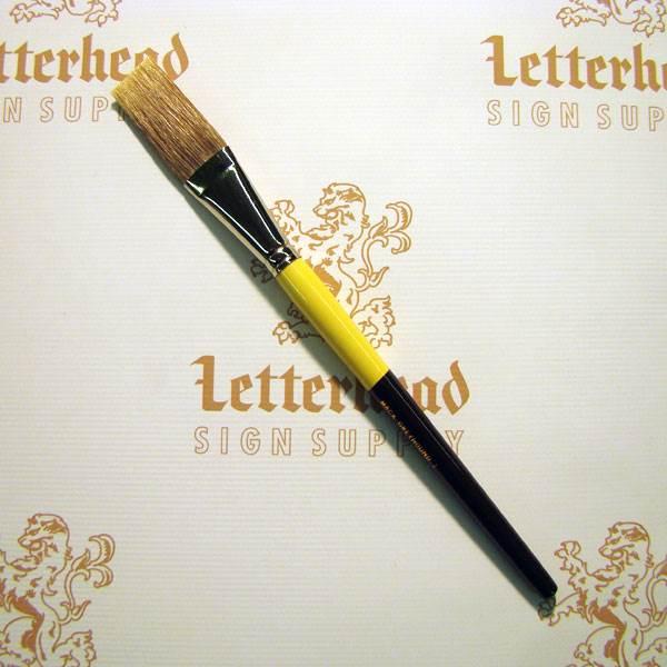 "Flat Lettering Brush Grey Stroke series-1932 size 1"""