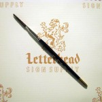 "Flat Lettering Brush ""Soft Stroke"" Brown series-1992 size 1/4"""