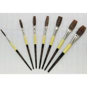 Flat Lettering Brushes Grey Stroke series 1932 by Mack Brush