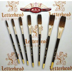 mack brush flat lettering brush soft stroke brown series-1992 full set