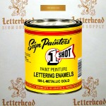 1 Shot Lettering Enamel Paint Metallic Gold 109L - Quart