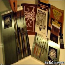 Hand Paint Stripe Gold Brush Kit - Large