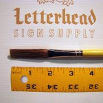 Flat Lettering Brush Grey Stroke series-1932 size 1/2""