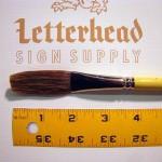 "Flat Lettering Brush Grey Stroke series-1932 size 3/4"""
