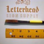 "Flat Lettering Brush Grey Stroke series-1932 size 3/8"""