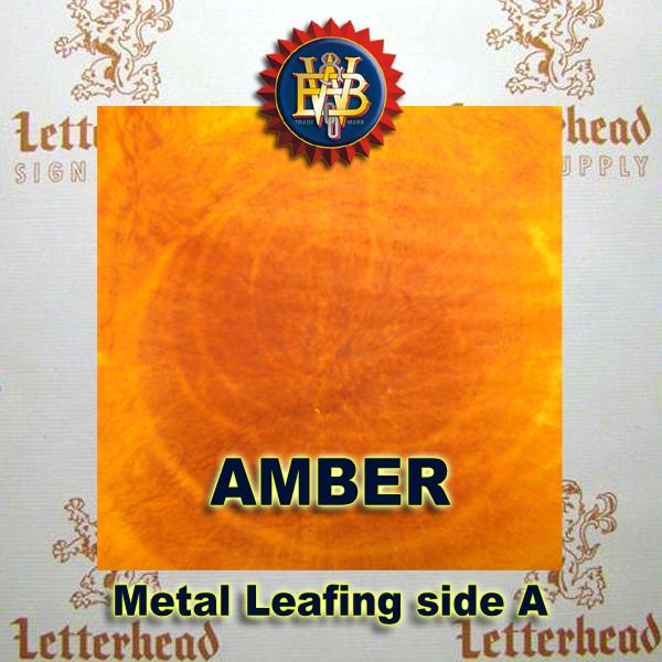 Variegated Metal Leaf-Amber Leafing 20 book Pack