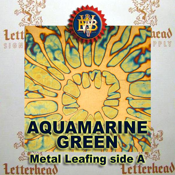 Variegated Metal Leaf-Aquamarine Green book