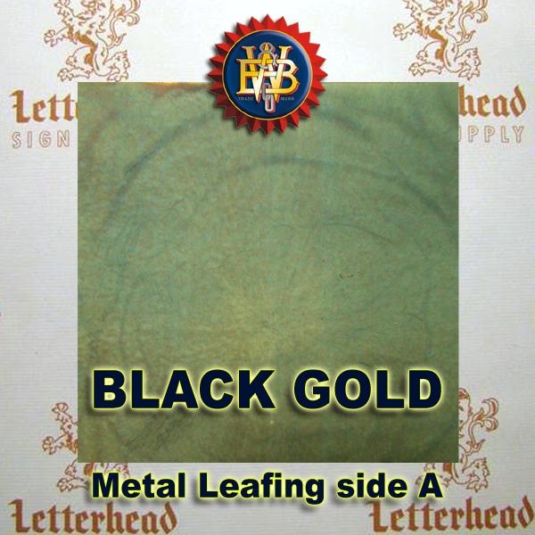 Variegated Metal Leaf-Black Gold 20 Book Pack