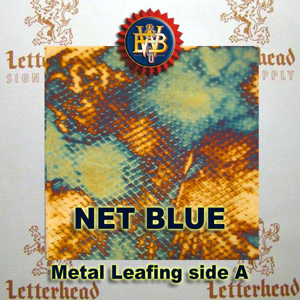 Variegated Metal Leaf-Net Blue book
