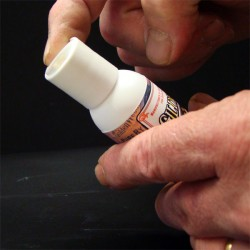 Gilders Shell and Crystal U.V. glue application