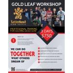 Gold Leaf Reverse Glass Gilding Workshop 3-Days